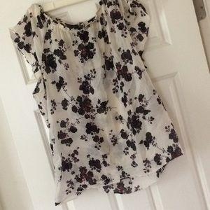 GAP Semi sheer floral blouse